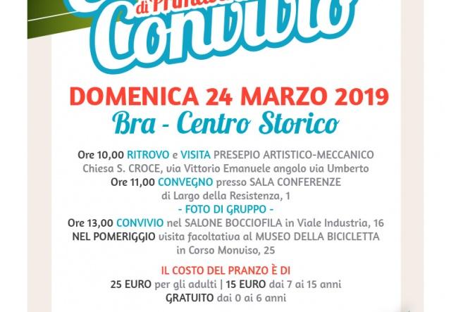 Domenica 24 marzo a Bra il convegno convivio di primavera 2019