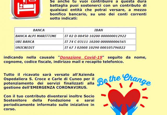 Presepi in Granda dona 2000 euro all'Ospedale di Cuneo per l'emergenza Covid-19